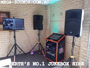 Touch Screen machine Jukebox Hire Perth