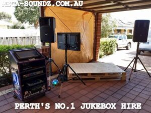 Touch Screen karaoke Jukebox Hire Perth