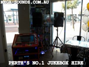 karaoke touch screen jukebox hire Perth Wa