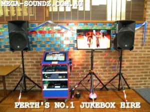 Touch screen party karaoke jukebox hire PERTH