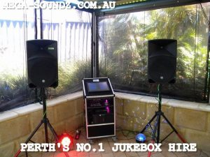 Touch Screen Karaoke Jukebox Machine hire Perth wa Mega-Soundz