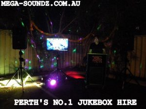 Touch screen karaoke jukebox machine hire Perth wa Joondalup