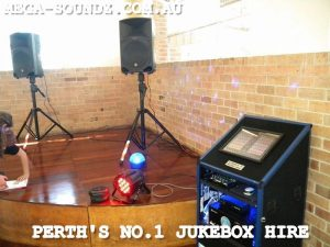 Touch screen jukebox karaoke machine hire Perth