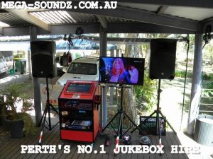 Touch Screen karaoke machine rental Perth