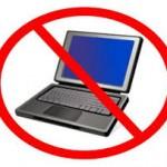 no laptops