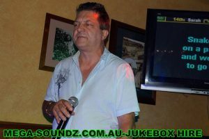 Karaoke Singing on a Mega-Soundz Jukebox Perth.