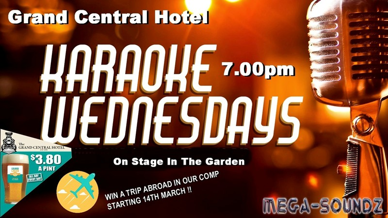 Karaoke Comp Starting 14th March At The Grand Central Hotel Midland.