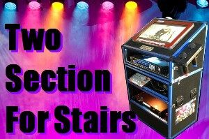 Two section jukebox hire Perth easily carried upstairs