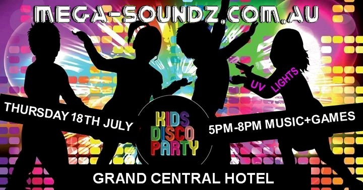 Kids Disco Party this Thursday 18th July, music and games 5pm-8pm